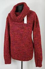 NEU Esprit Rolli Pullover Gr. M XL 38 42 Strick Wolle Alpaka Bordeaux