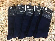 BULK 6 Pairs Mens Bamboo Business Socks size 11-14 DARK Navy Blue New