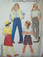 Easy to Sew Simplicity Pattern 6961Girl's Pants, Shorts, and Skirt Cut Size 7