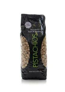 Wonderful and  Delicious  Pistachios, Salt and Pepper Flavored, 48 Ounce Bag,
