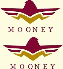 Mooney  Aircraft Decal 3''h x 7.5''w!