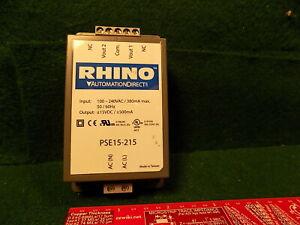(1) RHINO PSE15-215 15VDC .5 Amp Power Supply USED