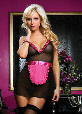 SEXY NAUGHTY Waitress MAID COSTUME OUTFIT PARTY DRESS FANCY DRESS HEN FRENCH