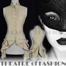 ALL SAINTS SHIRT TOP DRESS 6 8 34 36 4 2 VICTORIAN BUSTLE VAMP POET MASQUERADE