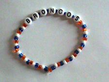 Denver Broncos NFL beaded bracelet