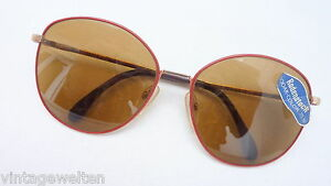 Rodenstock Sunglasses Ladies Very Large Red Gold Brown Glasses 70 Vintage Size L