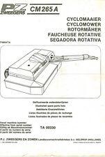 PZ Zweegers CM265A Cyclomower Mower Operators & Parts