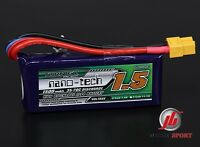 Turnigy Nano-Tech 1500mAh 2S 7.4V 25-50C Lipo Battery