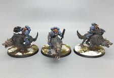 WARHAMMER 40,000 SPACE MARINES SPACE WOLVES THUNDERWOLF CAVALRY PAINTED