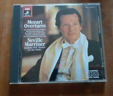 Mozart Overtures Marriner EMI Digital Black Angel Japan No Barcode CDC 747014 2