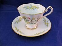 ANTIQUE ROYAL STAFFORD TEA CUP AND SAUCER - TROUSSEAU - MADE IN ENGLAND