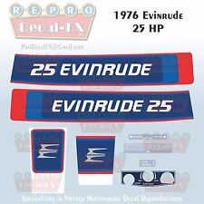 1976 Evinrude 25 HP Two Stroke Outboard Repro 8 Pc Marine Vinyl Decals 25602-03