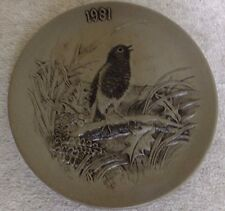 "Poole Pottery 8 inch BLA Stoneware Plate Christmas 1981 ""A Christmas Carol"""