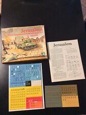Mayfair Games Jerusalem Tactical 1948 Arab-Israeli War John Hill W Mounted Map