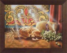 OUR DAILY BREAD by Doug Knutson 22x28 FRAMED PRINT PICTURE Wine Grapes Religious