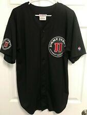 Jimmy John'S Gourmet Sandwiches 21 Hans Men Black Button Sewn Baseball Jersey L