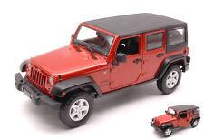 Jeep Wrangler Unlimited 2015 Copper Metallic Se Trucks 1:24 Model MAISTO