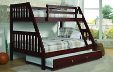 Full Twin Bunk Bed with Trundle