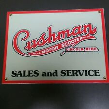 Cushman motor scooter porcelain sign
