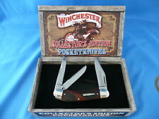 Winchester Collector's Edition Checkered Bone Sowbelly Whittler Knife WN39049C