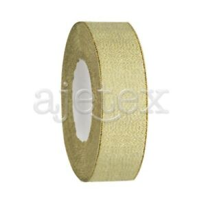 """25 Yards 1"""" 25mm Glitter Ribbons Bling Bows Sew Wedding Party Deco Supply RN0045"""