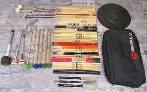 Konvolut Sticks, Stickbag, Schlägel, Pad, Vic Firth, Pro Mark Schlagzeug Drums