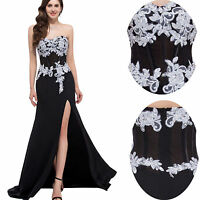 New Long Chiffon Evening Formal Party Ball Gown Prom Bridesmaid Dress Size 6-20