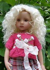 Monique Ellowyne Rose Wig 7 1/4 for Effner Little Darlings Kish White Blonde