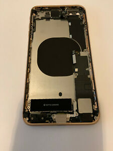 Apple iPhone 8 plus gold original frame housing for parts read