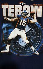 Tim Tebow Denver Broncos t-shirt blue size M Reebok New! Free shipping!