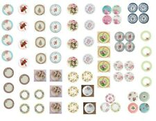 Dollhouse Miniature Decals 1:12 Scale Plates