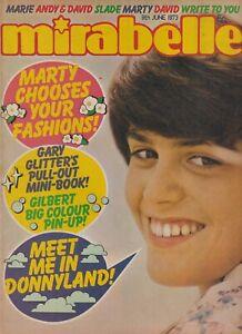 MIRABELLE (9 June 1973) Donny Osmond Gary Glitter New Seekers Gilbert O'Sullivan