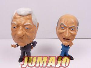 FIG66 lot 2 figurines PVC CINEMA : LOUIS DE FUNES + JEAN GABIN rare ! 7/8cm