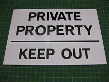 1 PRIVATE PROPERTY KEEP OUT RIGID SIGN