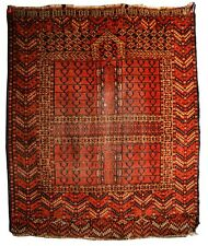 ANTIQUE TURKOMAN TURKMEN ENSI Hatchli PRAYER RUG CENTRAL ASIA