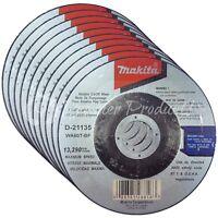 "Makita 10 Pack - 4.5"" Cutting Wheels For Grinders On Metal & Stainless Steel"
