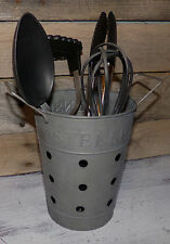 Utensils Holder Silverware Caddy Container Spoons Forks Tongs Rustic Home Decor
