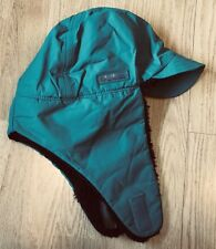 Vtg 80s 90s Columbia Ear Flaps Trapper Cap Winter Hat Green Purple L/XL