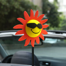 Red Petals Sunflower Flowers Antenna Balls Car Aerial Ball Funny Topper Decor