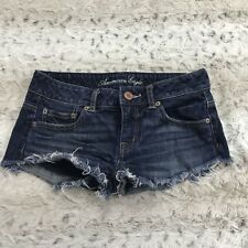 American Eagle 00 Dark Wash Cut off Jean Denim Shorts