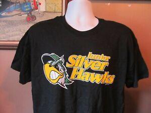 South Bend Silver Hawks Minor League Baseball Black S/S T-Shirt Size Large~NWT!