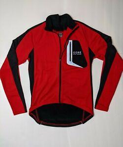 Gore Bike Wear Packable Light Cycling Jacket RED BLACK Reflective Pocket Men's S