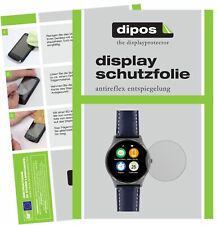 2x Uhr 22.5 mm Durchmesser Schutzfolie matt Displayschutzfolie Folie Display