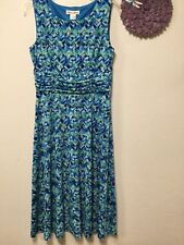 Womens dress size 8 shades of blue green empire waist Laura Jeffries 178