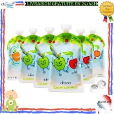 6 Gourde Réutilisable 175 ml Compote Purée Sans BPA Congélateur Lave Vaisselle