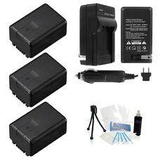 3x VW-VBK180 Battery + Charger for Panasonic HDC-TM40 SD40 HS60 SD60 SDX1