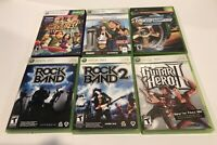 Lot of 6 Microsoft Xbox Video Games with Cases & 4 With Instructions