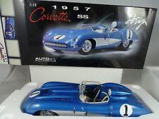 1:18 AUTOART #71051 CHEVROLET CORVETTE SS 1957 Bleu - RARE §