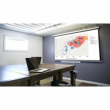 "Projector Screen 100"" 16:9 Pull Down Wall Ceiling Instalation Black Backing"