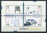 Bund Block 50 postfrisch BRD 2068 - 2071 Design in Deutschland 1999 MNH